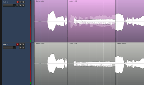 normal and non-layered overdubbing comparision