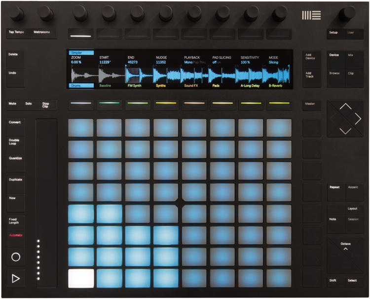 the Ableton Push 2 surface